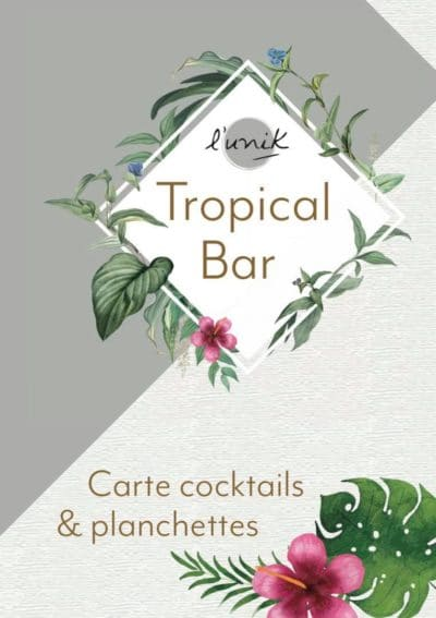 Carte cocktails été - L'Unik