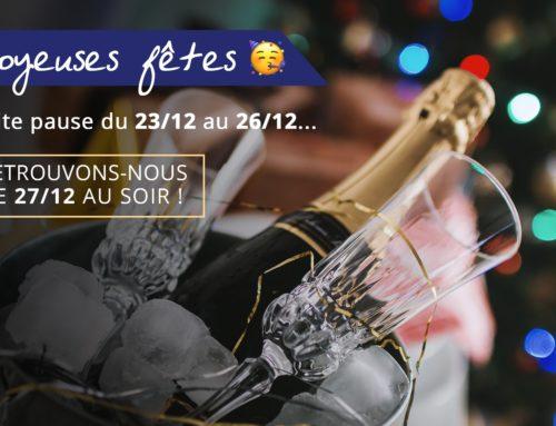 Congés des fêtes 2019